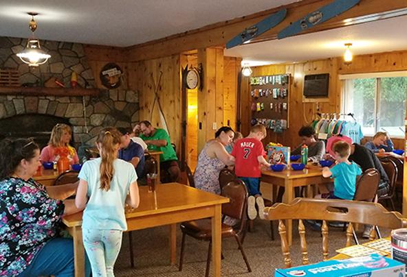 playing bingo at the lodge