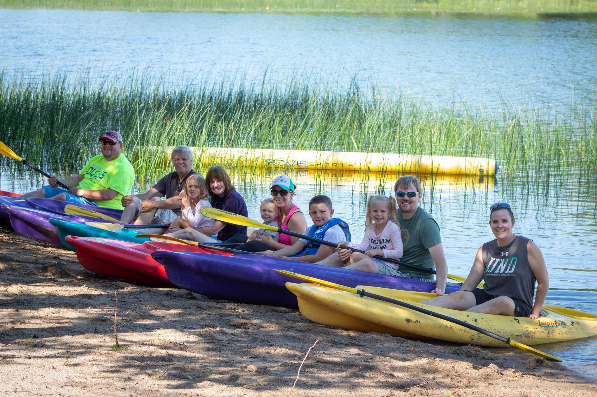 ready to go family kayaking