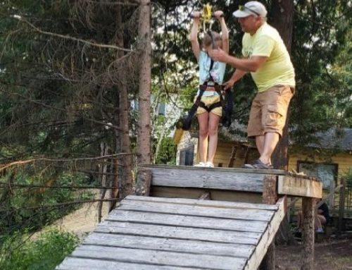 The zipline is a hit!